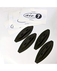 Air7 Mini Fin Box System For Foam Surfboards (Black)